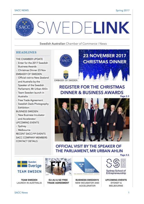 Swedish Australian Chamber Of Commerce News