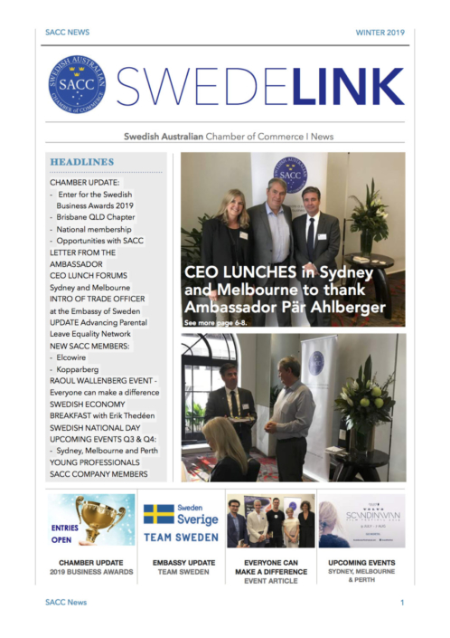 SWEDELINK Newsletter Winter 2019